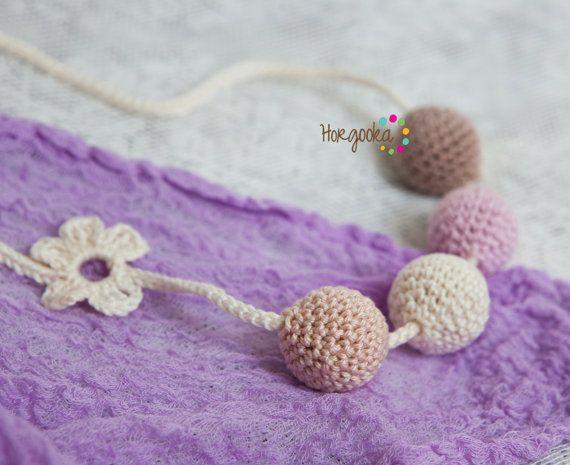 light pink teething necklace ecojewelry by Horgooka, $24.00