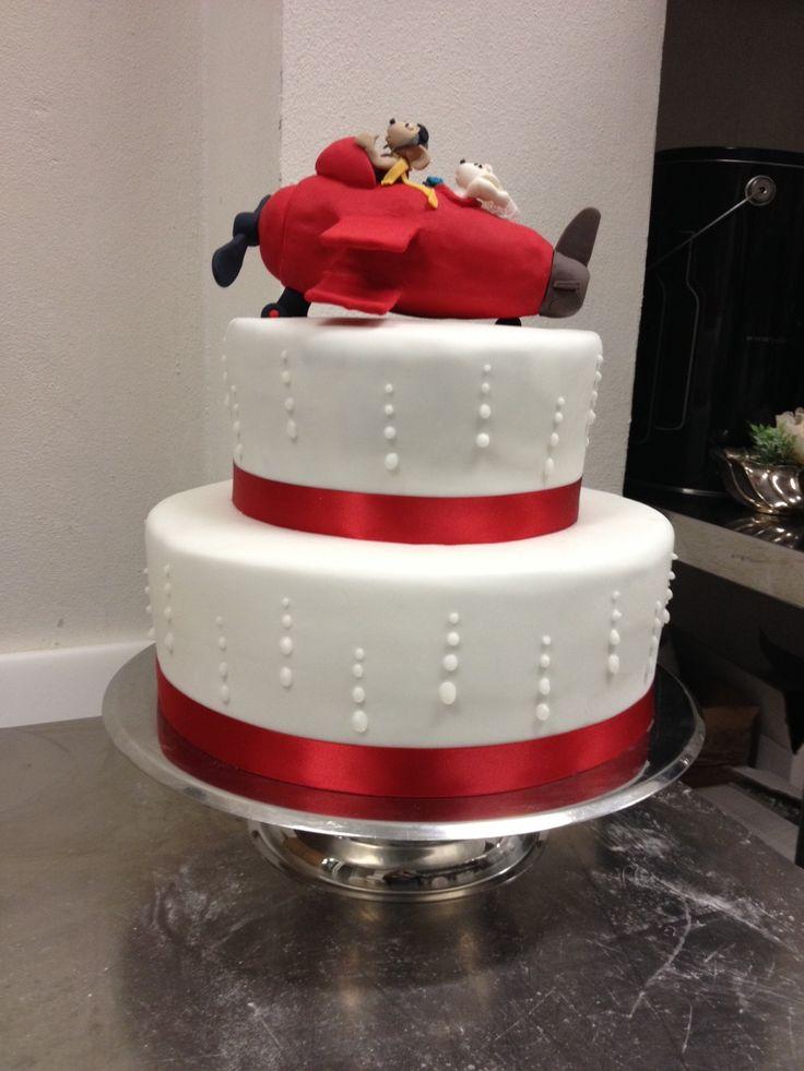 """wedding cake """"il Pilota topolino con la sposa Topolina"""""""