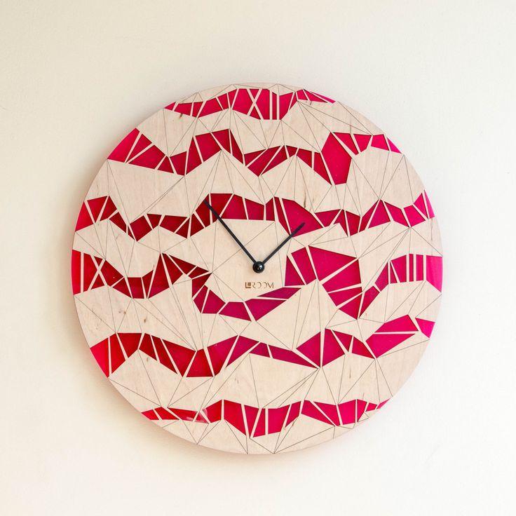 "Modern Wall Clock ""ORIGAMI""  Large Clock, Handmade clock, Acrylic clock, Hermle, design clock, home decor by Lines4room on Etsy"