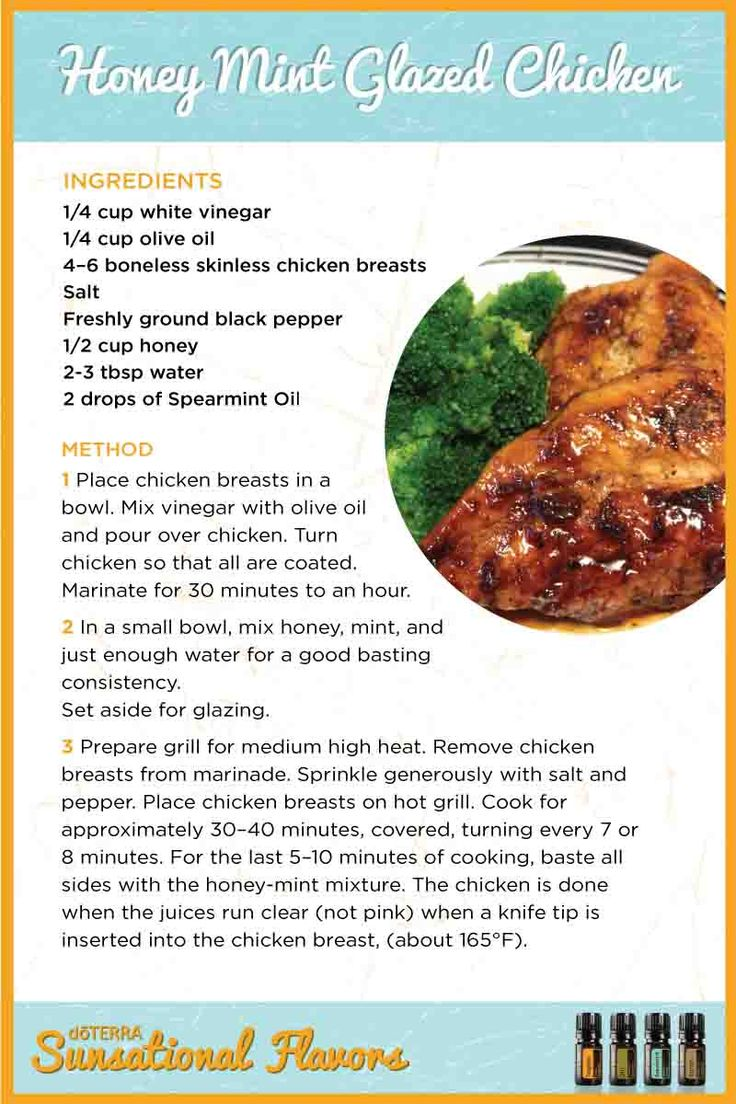 Honey Mint Glazed Chicken with doTERRA Spearmint essential oil