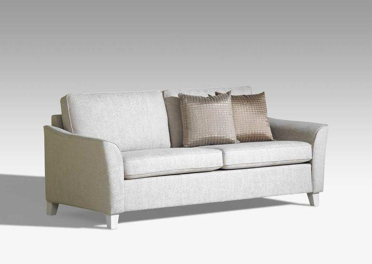 Kotimainen IIRIS-sohva on muotoilultaan siro ja keveän oloinen. Laulumaa Huonekalut