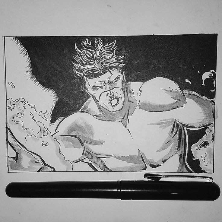 Quick drawing Pyro  #inktoberday2  #inktober #inktober2017 #ink #inking #inktoberindonesia #brush #art #artoftheday #comic #marvel #xmen #upil