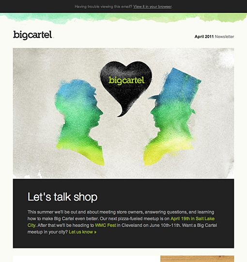 34 best email images on pinterest email design inspiration big cartel by big cartel pronofoot35fo Images