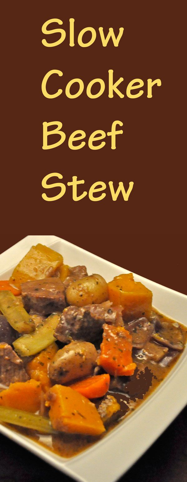 Beef Stew with Butternut Squash - from the slow cooker