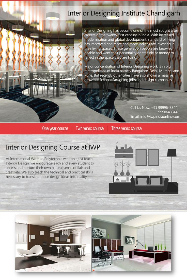 Interior Designing Courses in Chandigarh offered at IWP is among best short term courses in ‪#‎InteriorDesigning‬ after 12th. Know More - http://goo.gl/iGJEjF