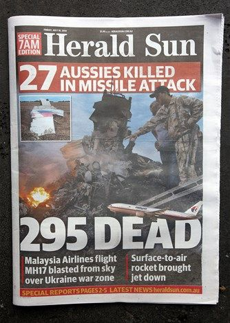 The front cover of the Herald Sun newspaper.