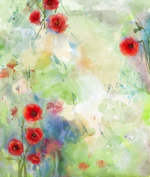 Red Poppy Abstract Art from $29.99 | www.wallartprints.com.au #AbstractArt #SpringPictures