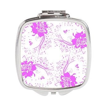 Purple Awareness Woman Circular Square Compact Mir