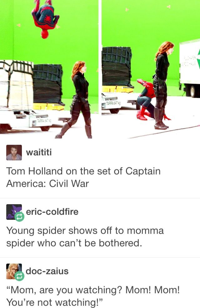 Okay, but I could totally see them getting teased for the spider thing and Peter just starting to call Nat mom and she goes with it.