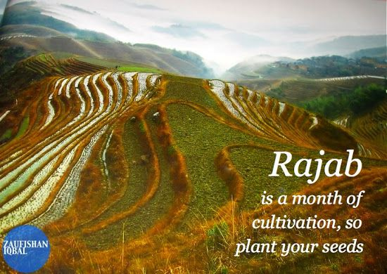 Rajab is the penulitmate month before Ramadan. We should plant the seeds from now so we can have a special Ramadan!