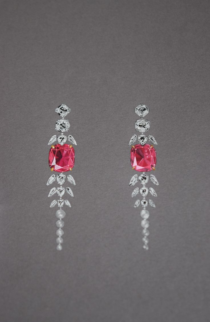 Find This Pin And More On Pink Gemstone Jewelry Spinel And Diamond Earrings