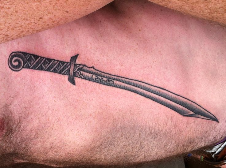 Eerste tattoo, scimitar, Jan Paul Jansen