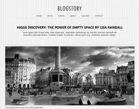 Blogstory by Webvilla, via Behance
