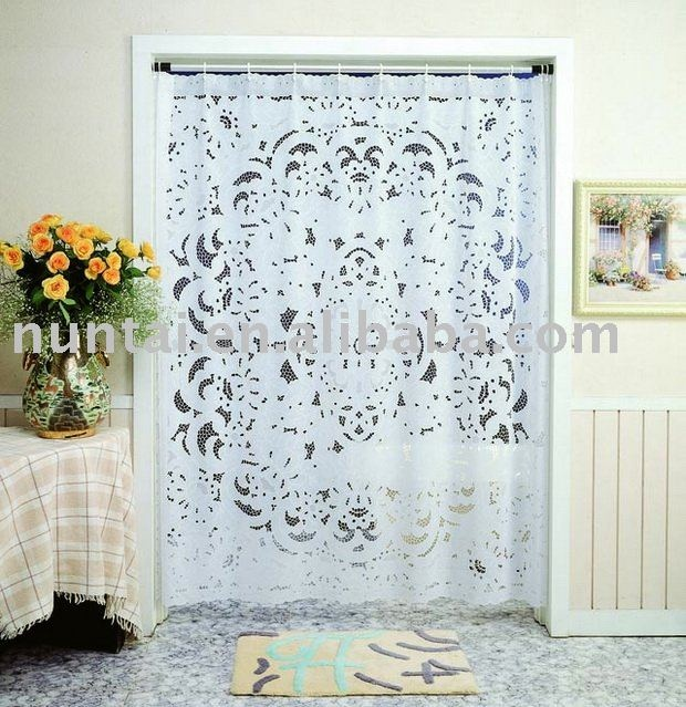 A Beautiful Lace Printed Shower Curtain Farm House