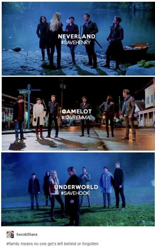 Ohana means Family! Even if it it in the Underworld! #SaveHook #CaptainSwan #OnceUponATime #once #ouat