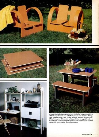 Popular Science Portable Picnic Table Popular Science Picnic Table