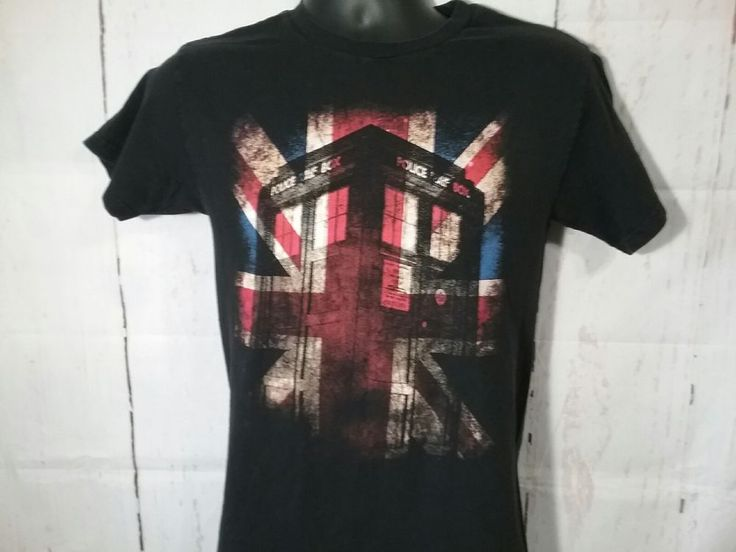 Dr Who Police Call Box Telephone Booth T-Shirt Size Small BBC TV Show #RippleJunction #GraphicTee