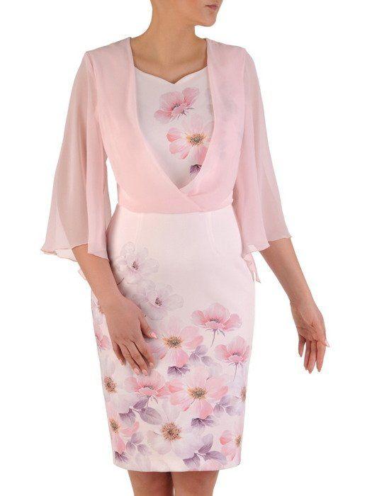e0be2733be Sukienka wyjściowa, modna kreacja w kwiaty 20038. | Sklep online ...