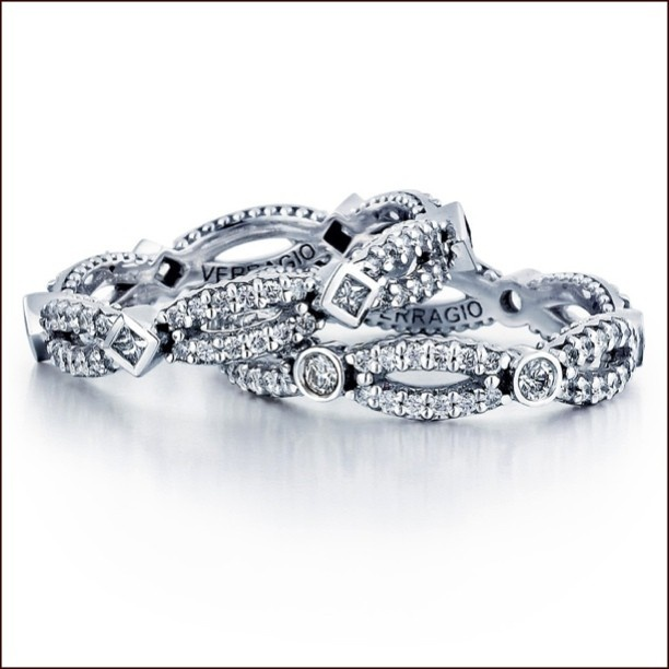 New diamond eternity rings from the Parisian Collection @verragio