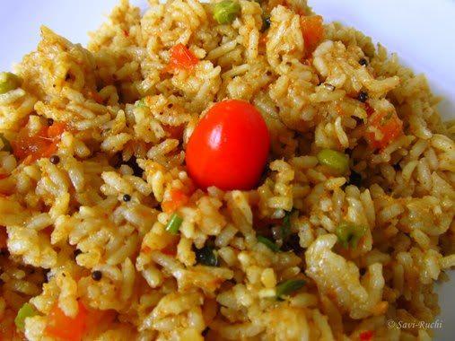 Savi-Ruchi: Tomato Bath recipe: Karnataka Style