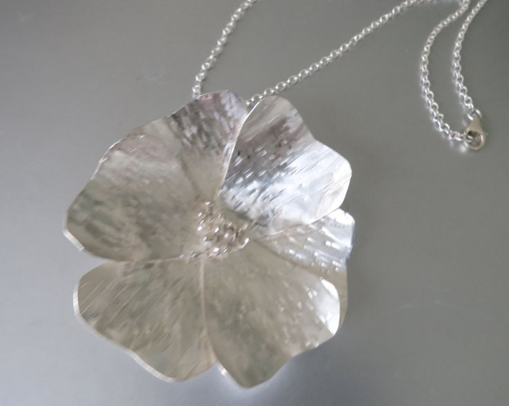 Statement Poppy - Handmade from Sterling Silver by Artistic925Jewellery on Etsy