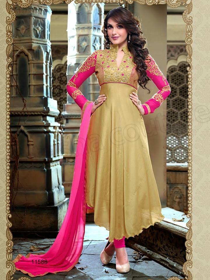 Pink Wholesale Latest Anarkali Salwar Kameez - Pakistani Long ...