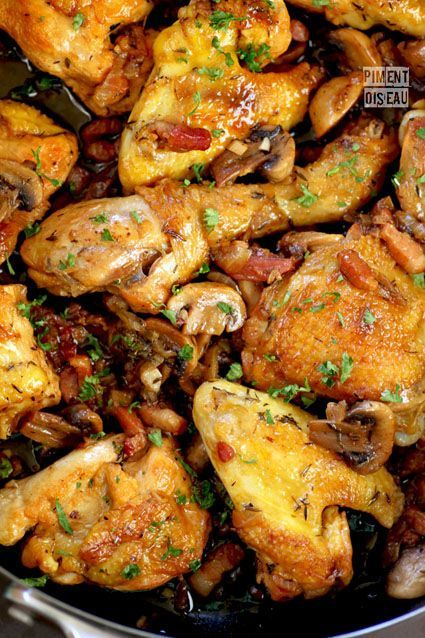 Poulet Aux Champignons (Chicken with Mushrooms)