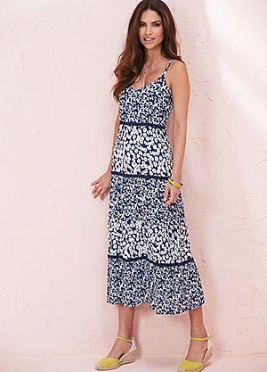 Mixed Print Tiered Dress #kaleidoscope #hot #summer #heat