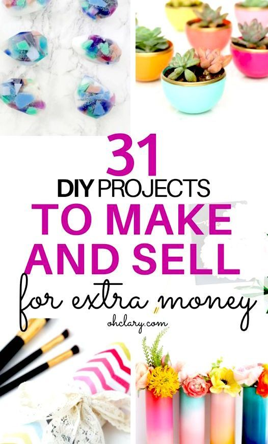 Crafts To Make And On Etsy Extra Money From Home Por Diy Easy Unique Ideas For Projects You Can Using