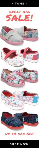Girls Fashion + Cool Shoes for Little Girls + Toms Vegan Shoes + Shoe Sale = Cute Back To School Shoes From $19 @ Toms Canada