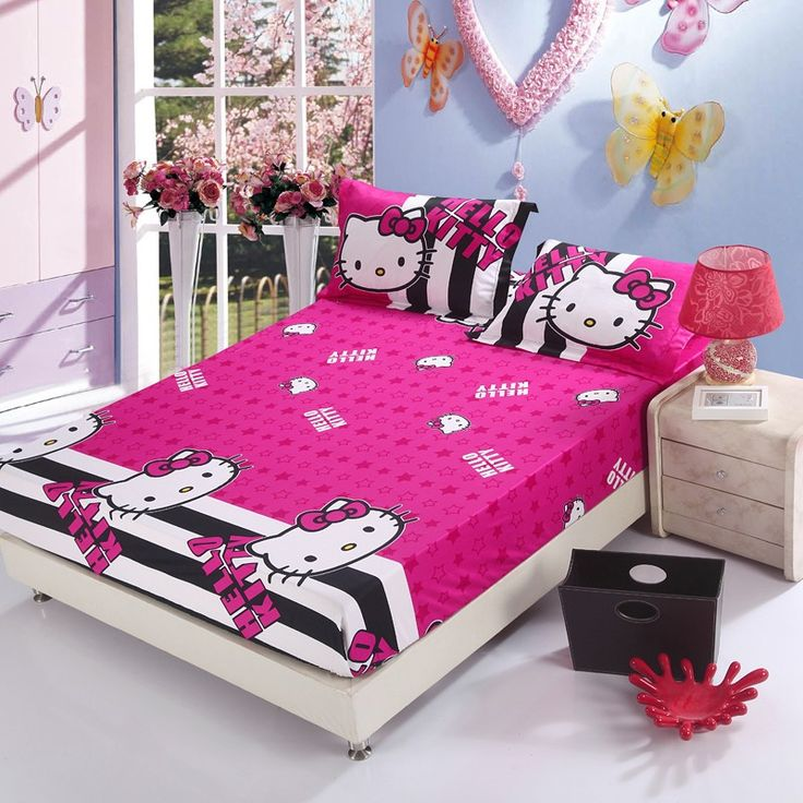 black and hot pink furniture for teen girls teenage girls room decorating - Decoration Hello Kitty Chambre