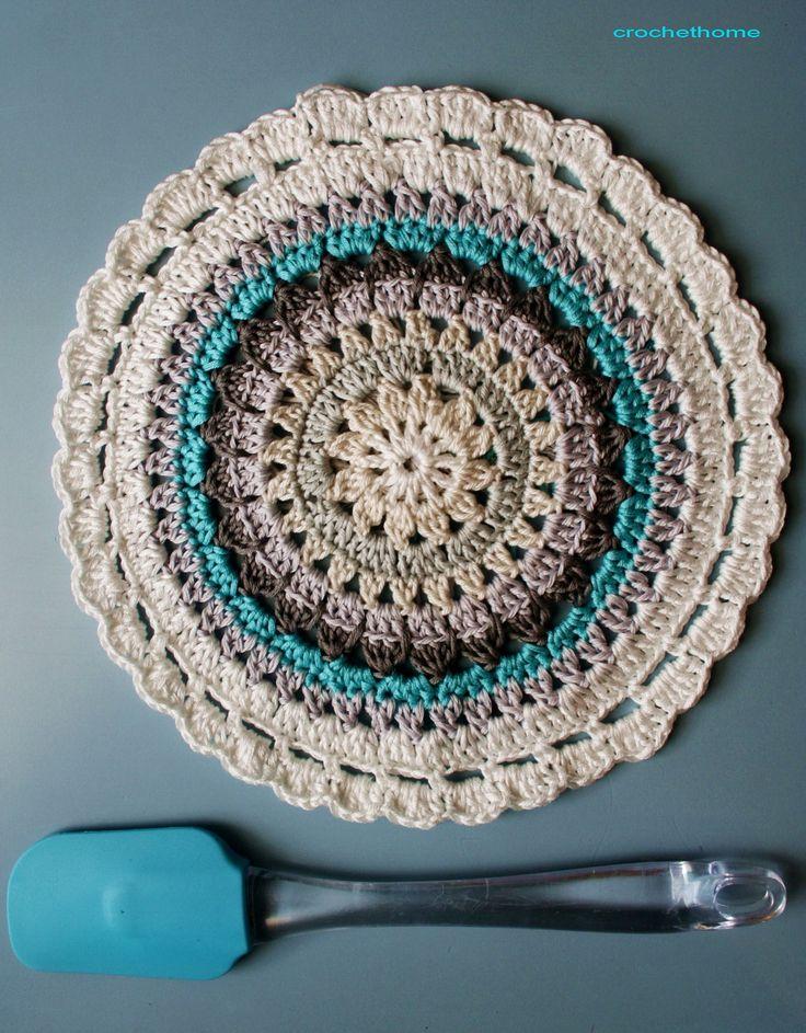 Mandela Motif By Nela - Free Crochet Pattern - (nela-cutnelacut.blogspot)