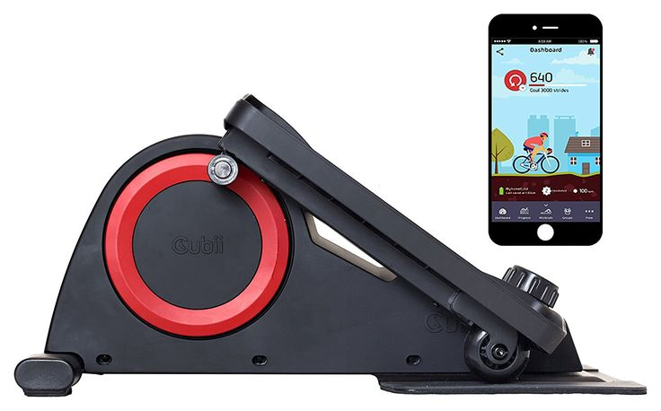 This Cubii Under Desk Elliptical Trainer has Bluetooth so that you can track your performance on your mobile whilst you exercise.