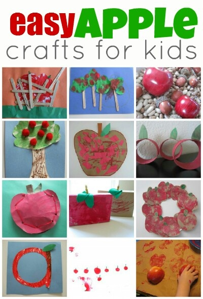 "Easy apple crafts for kids. Anyone doing a week of ""apple"" learning?"