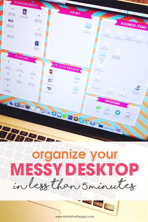 how to clean up your desktop