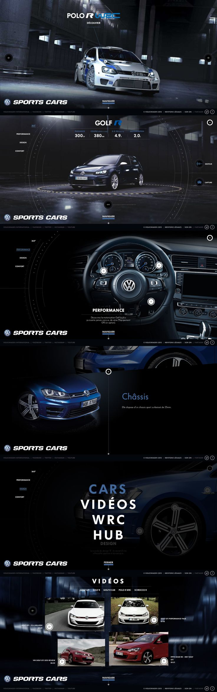 volkswagen sports cars cool website with nice smooth animations http
