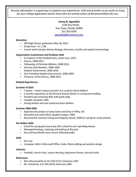 Más de 25 ideas increíbles sobre College admission essay examples - sample high school student resume for college application