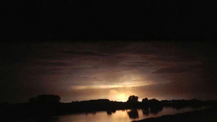 Onweer boven deventer. Made by kaylee melgert.