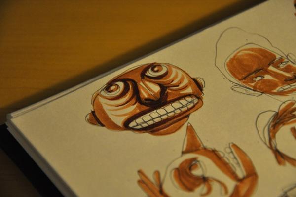 Cabeças marrons : pedro hamdan - ilustração