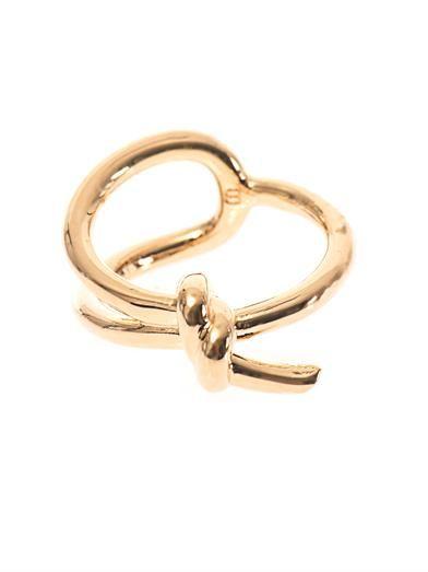 Balenciaga Asymmetric bow ring