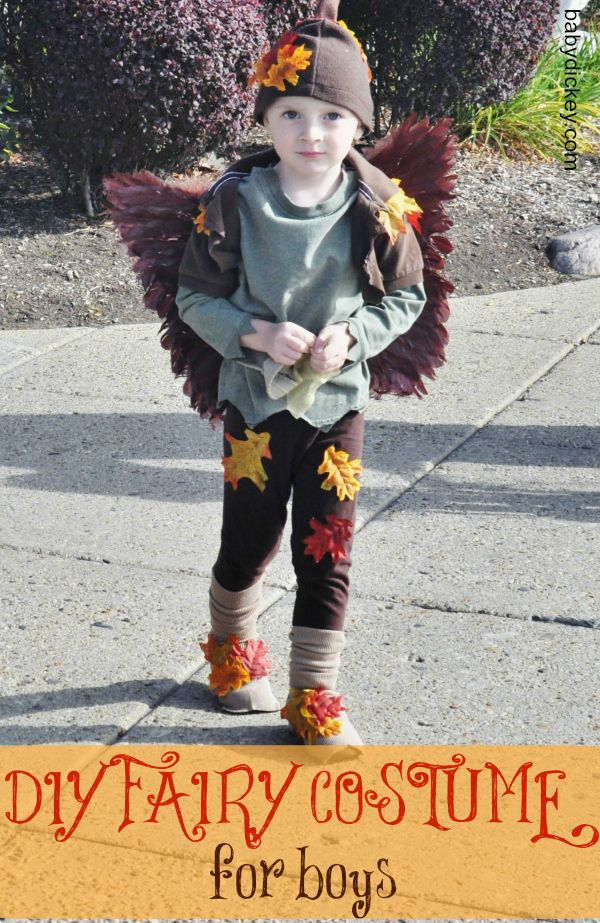 "My daughter's birthday's coming up and we're all about FAIRIES at the moment! My boy and my daughter's ""boy friends"" can dress up too!  Fairy Costume for Boys - Baby Dickey 