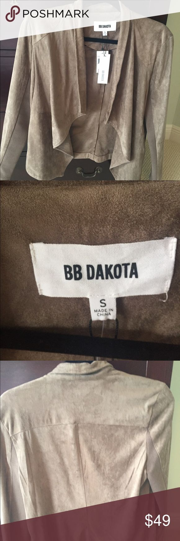 BB Dakota light weight brown wrap jacket Light weight jacket with tags on!  Pretty color brown and has spandex for more stretch and better fit.  Easy to pair with jeans.  No stains or rips.  Tags are still on❣ BB Dakota Jackets & Coats