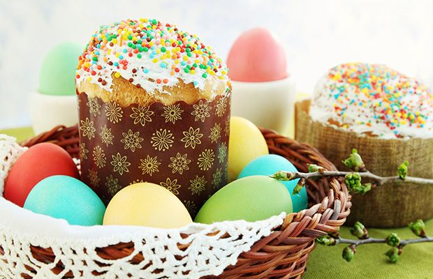 Traditional Russian Easter Kulich