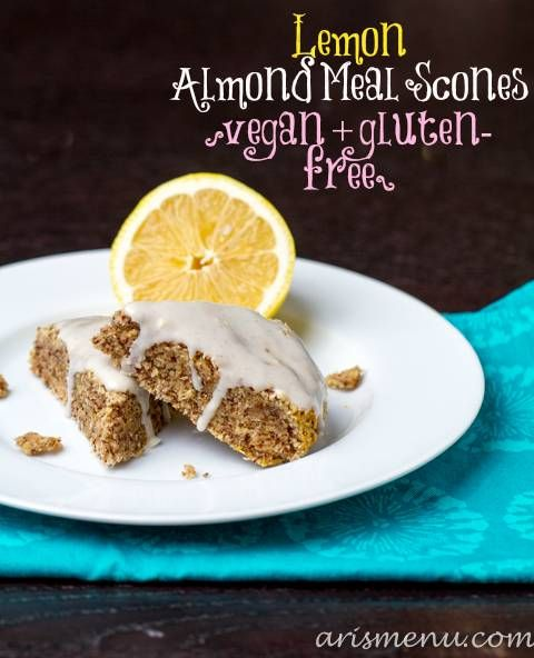Lemon+Almond+Meal+Scones+#vegan+#glutenfree