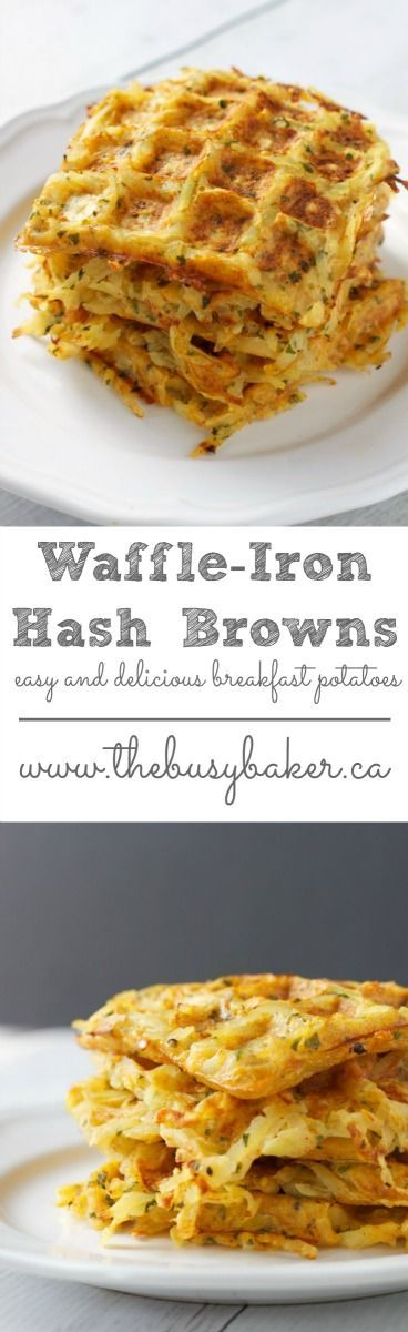 The easiest breakfast potatoes or hashbrowns ever! Breakfast potatoes made in your waffle iron! http://www.thebusybaker.ca