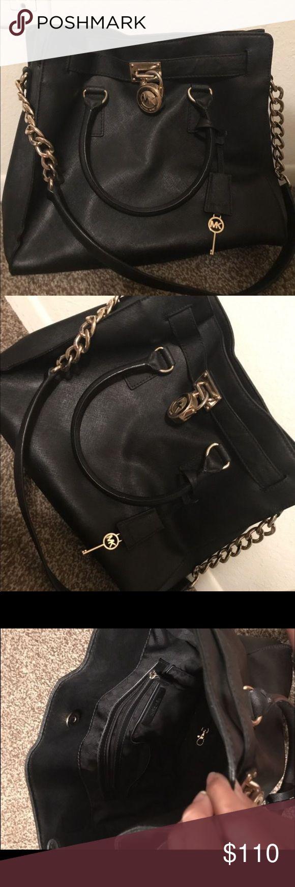 michael kors handbags authentic used michael kors hamilton black purse with silver