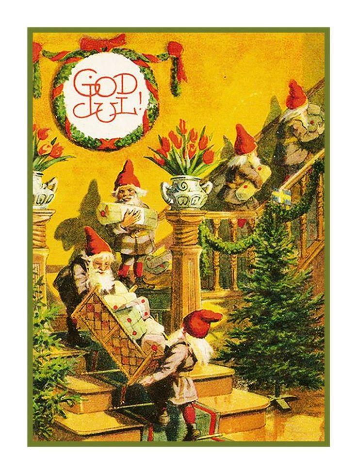 Контакт, открытка с швецким рождеством