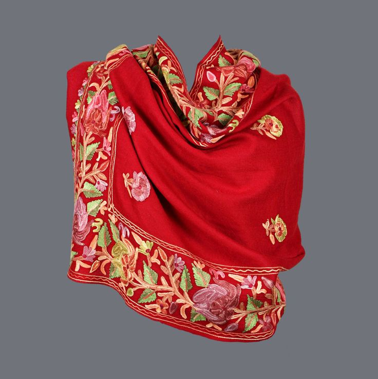 Featuring this beautiful Red Broad Border Wool Stole  in our wide range of Saris. Grab yourself one. Now!