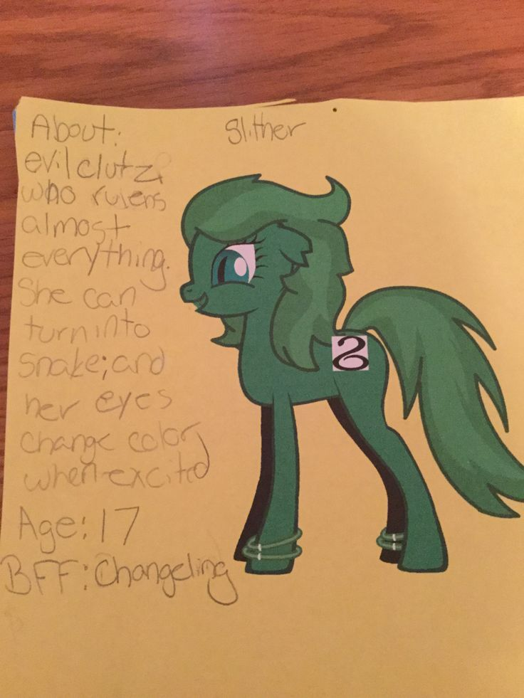 My new oc Slither!!!! Made in mlp creator by general zoi divine art. You can make ur own pony and if u do put a like for this pin!