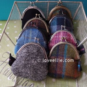 Harris Tweed coin purses - available now